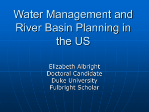 Water Management and River Basin Planning in the United States