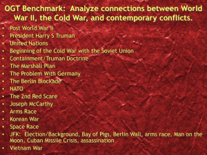OGT Benchmark: Analyze connections between World War II