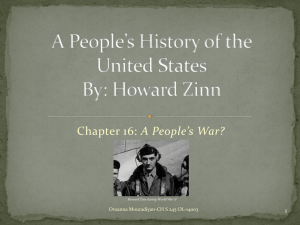 A People's History of the United States By: Howard Zinn