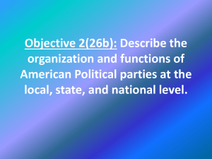 Objective 2(26b): Describe the organization and functions