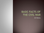 Basic Facts of the Civil War - Greenbush Middle River School
