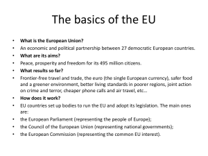 The basics of the EU - Riverside City College