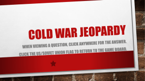 Cold War Jeopardy
