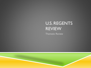 U.S. Regents review - Camden Central School District