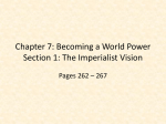 Chapter 7: Becoming a World Power