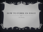 How to Form An essay