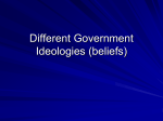 Different Government Ideologies (beliefs)