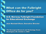 What can the Fulbright Office do for you?