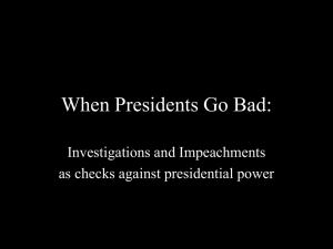 When Presidents Go Bad: - University of San Diego Home Pages