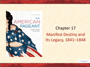 Ch 17 Manifest Destiny - Brookville Local Schools