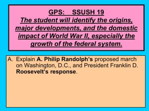 GPS: SSUSH 19 The student will identify the origins, major