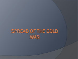 Spread of The cold War