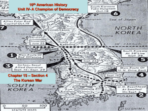 The Korean War - Waverly-Shell Rock School District