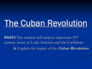 The Cuban Revolution - Polk School District