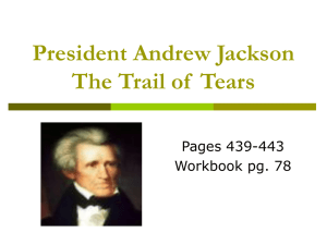 President Jackson and the Trail of Tears