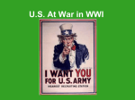 Notes – US At War in WWI