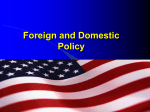 New Trends in foreign policy
