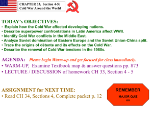 "CH 33:4-5 ""Cold War Hotspots"" Powerpoint"