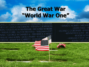 "The Great War ""World War One"""