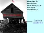 Articles of Confederation (weaknesses) Powerpoint