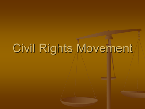 Baby Boomers and Civil Rights Movement