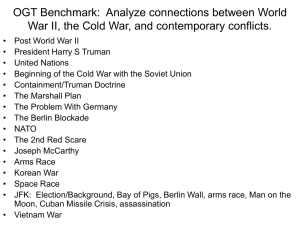 OGT Benchmark: Analyze connections between World War II, the