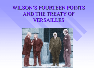 wilson`s fourteen points and the league of nations