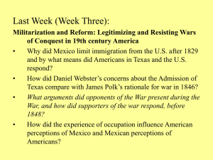 How did the War Against Mexico influence sectional identities and