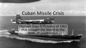 Cuban Missile Crisis - HRSBSTAFF Home Page