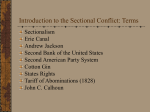 Introduction to the Sectional Conflict