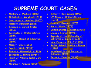 Unit 4 PowerPoint - (Supreme Court Cases)