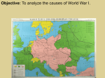 MANIA What caused World War I, and why did the United States
