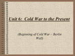 Unit 7: Cold War to the Present