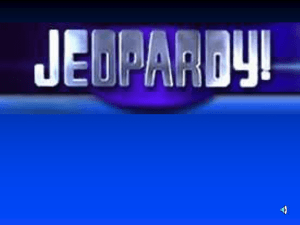 Cold War Jeopardy Review #1