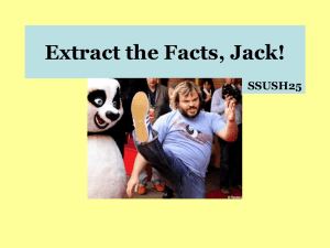 Extract the Facts, Jack!