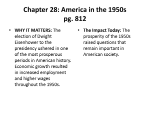 Chapter 28: America in the 1950s pg. 812