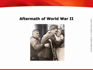Effects of WWII in America