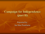 Campaign for Independence (part II)