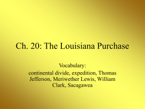 Ch. 20: The Louisiana Purchase