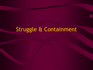 Struggle & Containment
