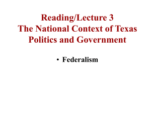 Lecture 3 Federalism