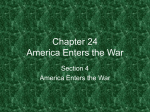 Chapter 24 America Enters the War