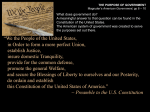 Preamble to the US Constitution slide