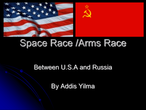 Space Race /Arms Race - vcehistory