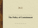 26.2 Policy of Containment