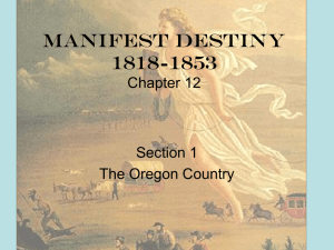Manifest Destiny 1818-1853 Chapter 12