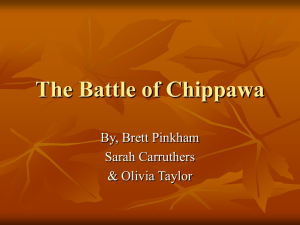 The Battle of Chippawa