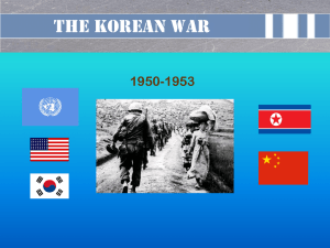 Background of The Korean War