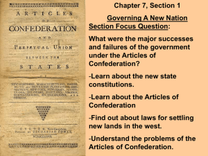 Why did the Articles of Confederation fail? Courts
