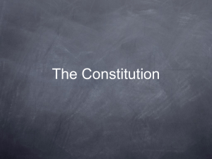 The Constitution The Principals of the Constitution of the United